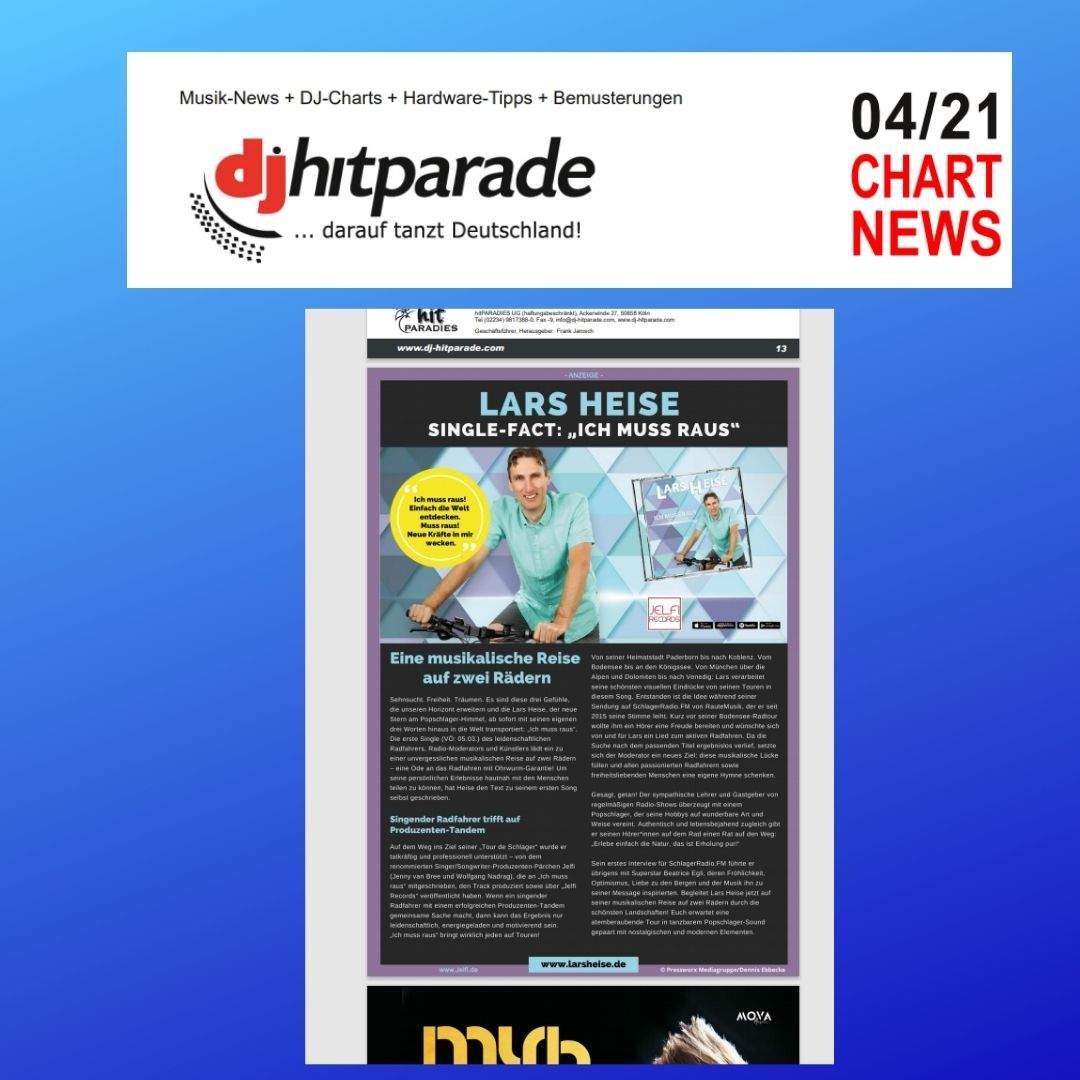 Lars Heise in den Chart News der DJ Hitparade